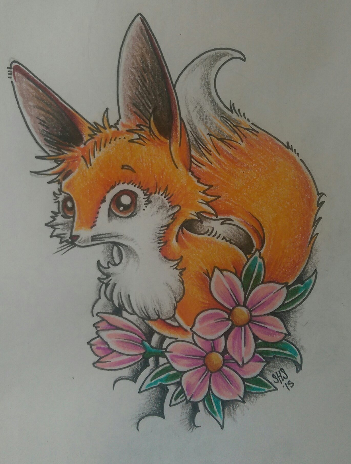 Traditional Kitsune Tattoo: Kitsune Fox Tattoo
