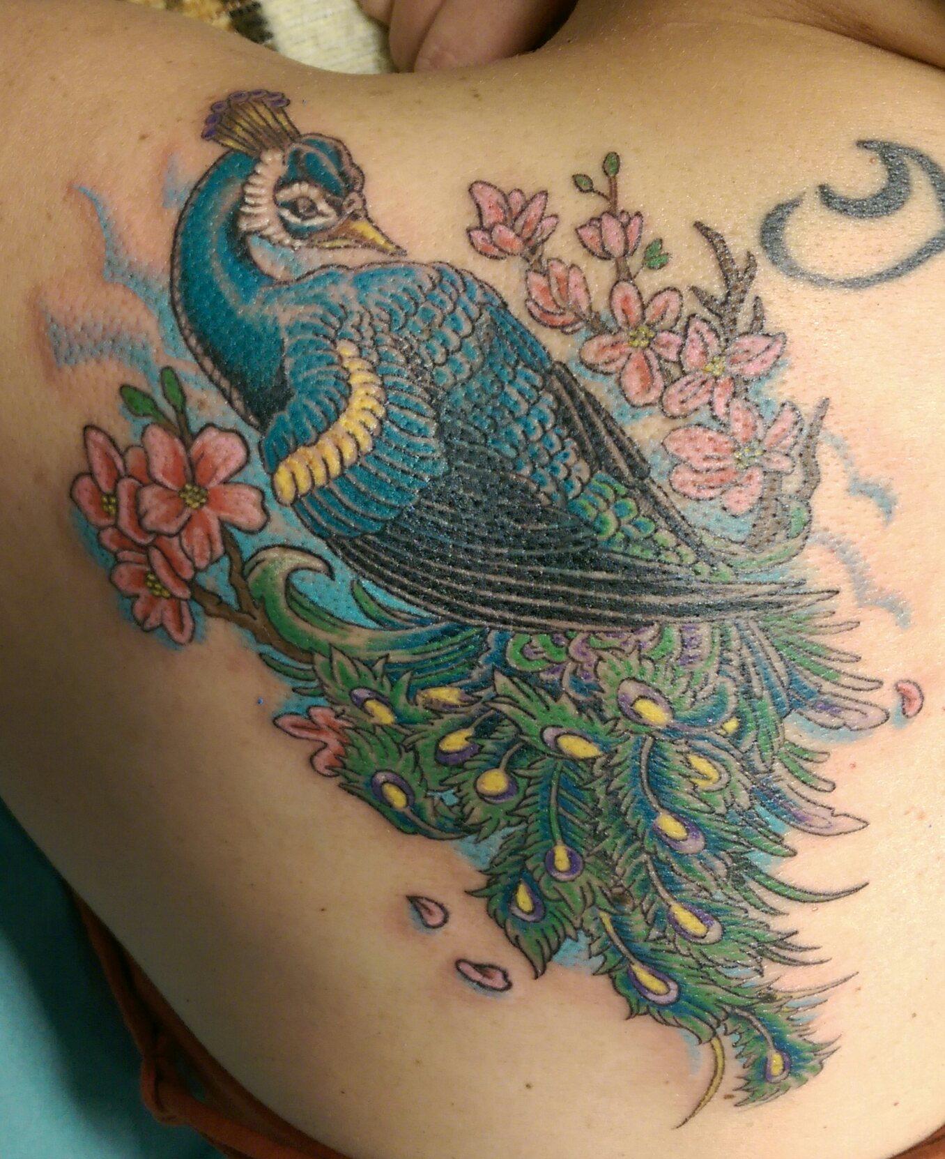 Peacock Tattoo: Skinhouse Studio