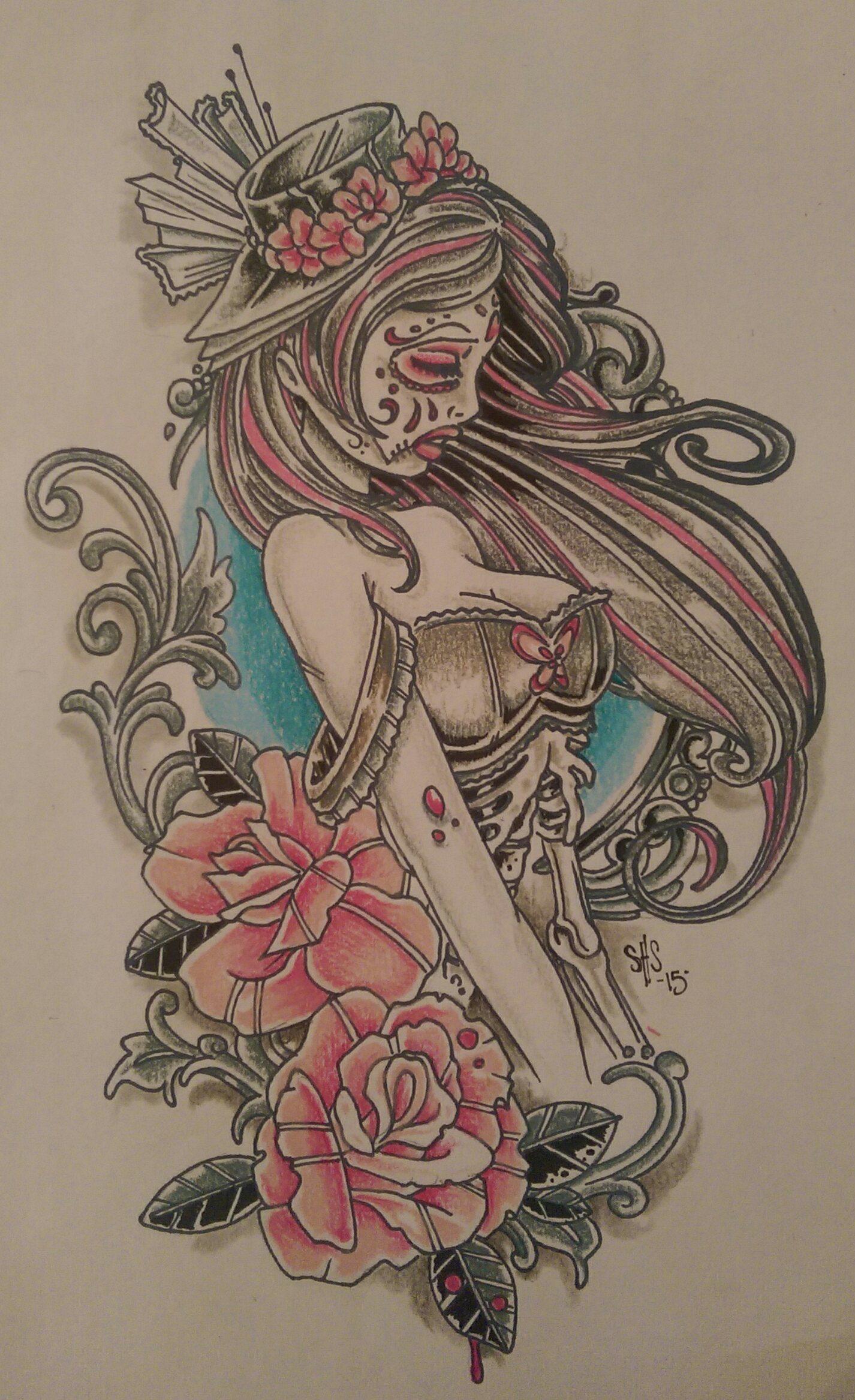 Tattoo Design Drawing by Raul Regalado Longmont Tattoo – Skinhouse Studio