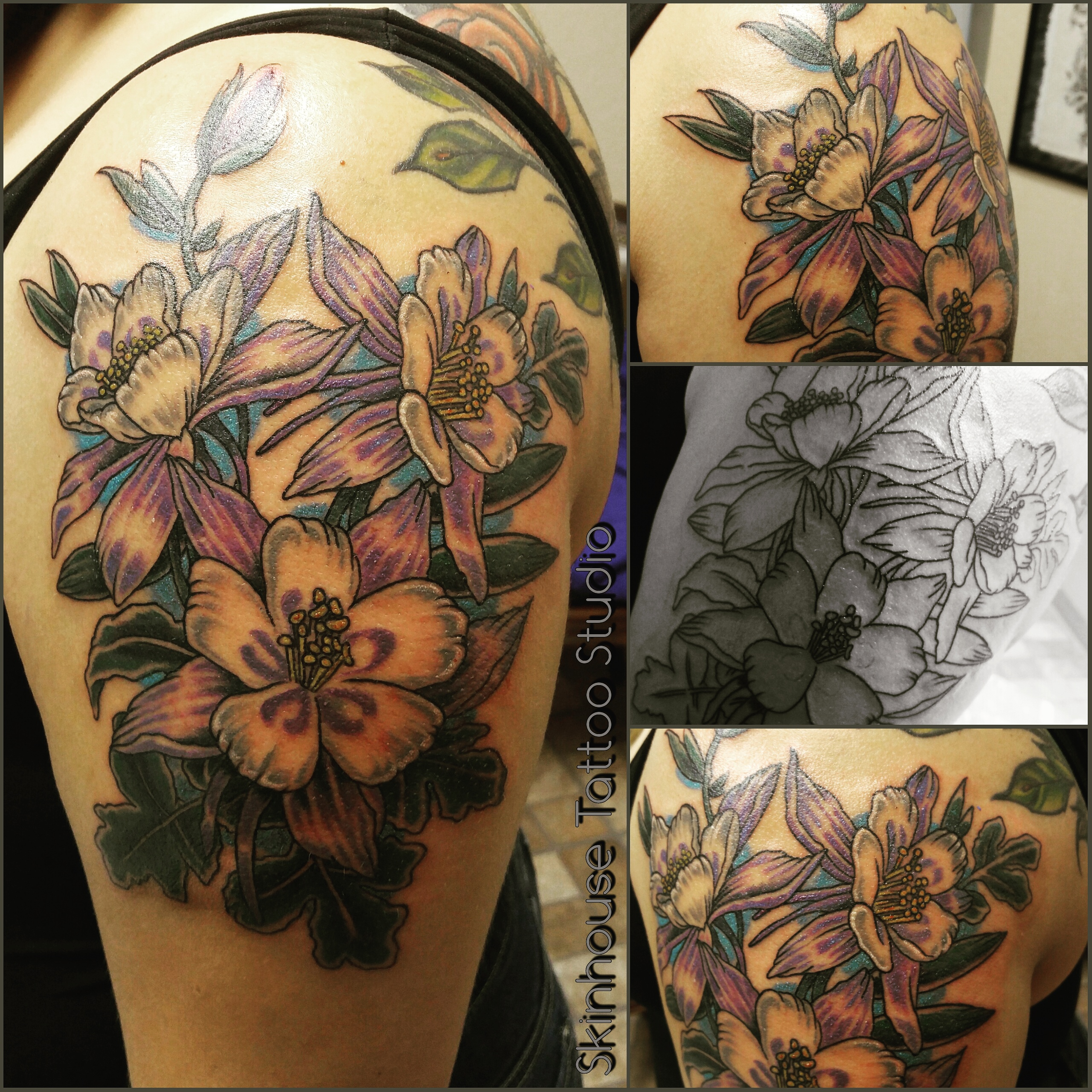 Colorado flower tattoo flowers healthy colorado thank you for the opportunity miss very much enjo this one tattoo done by raul regalado columbines of colorado tattoo skinhouse studio izmirmasajfo