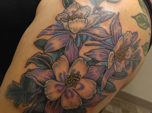 Columbines of Colorado Tattoo