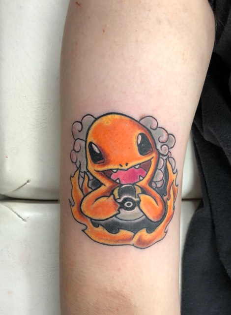 Charmander Pokemon Tattoo