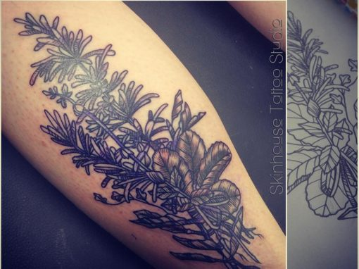 Black Tattoo Floral