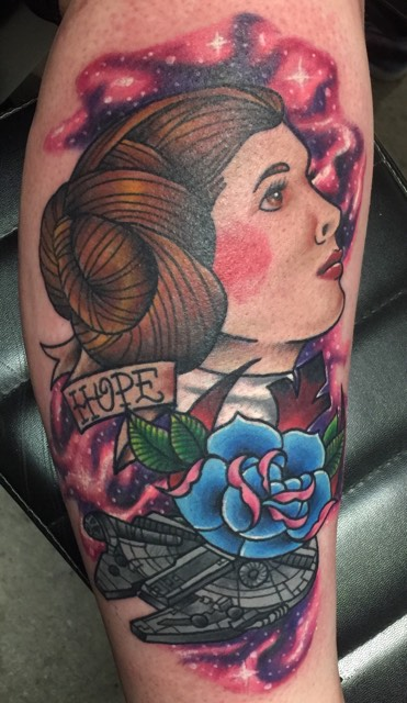 Leia Star Wars Inspired Tattoo