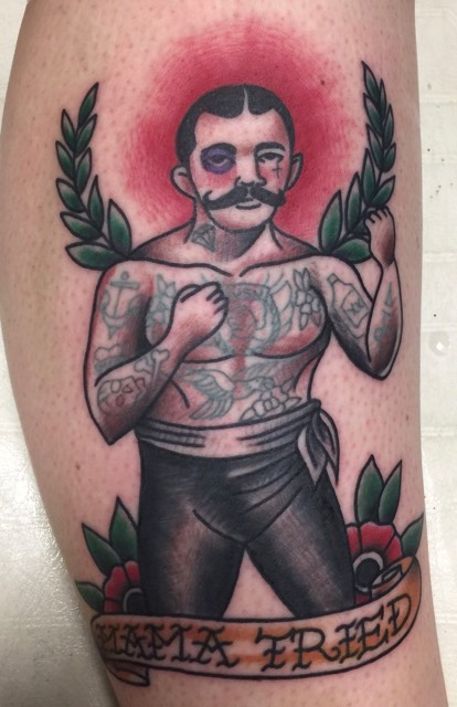 American Traditional Boxing Tattoo