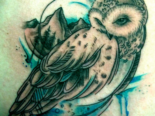 Snow Owl Tattoo Longmont