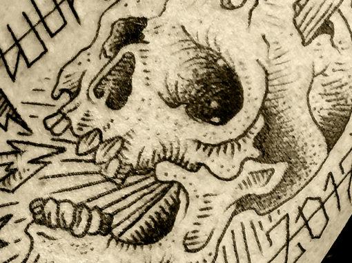 Metallica Hardwire Skull Tattoo