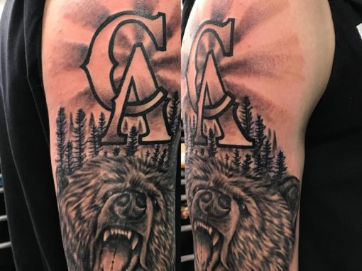 Cali Bear Tattoo