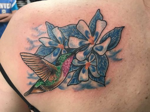 Momma's Hummingbird Tattoo