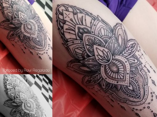Linear Decorative Thigh Piece