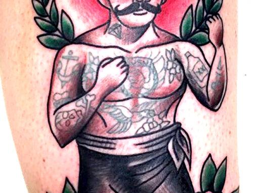 Boxer Tattoo Mick Minyard Longmont