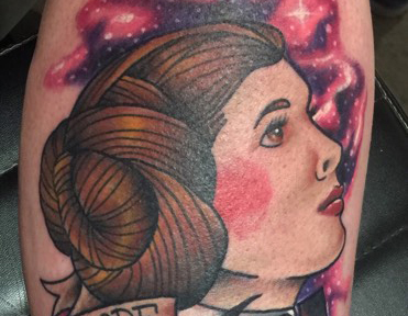 Princess Leia Star Wars Tattoo